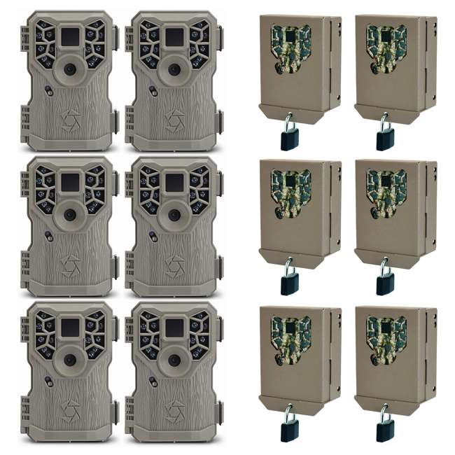 6 x STC-PX14 + 6 x STC-BBPX Stealth Cam 8MP 14 IR Emitter Hunting Game Trail Camera & Security Box (6 Pack)