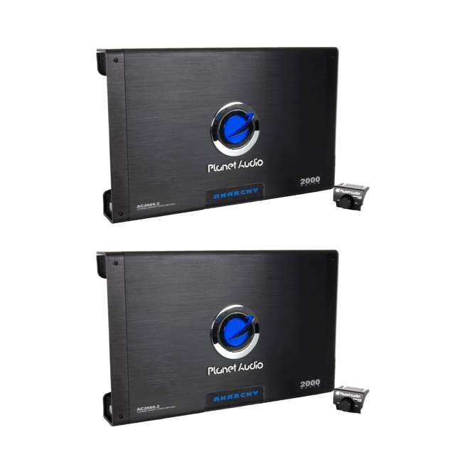 AC20002 Planet Audio AC2000.2 2000W 2-Ch Amplifier + Remote  (2 Pack)