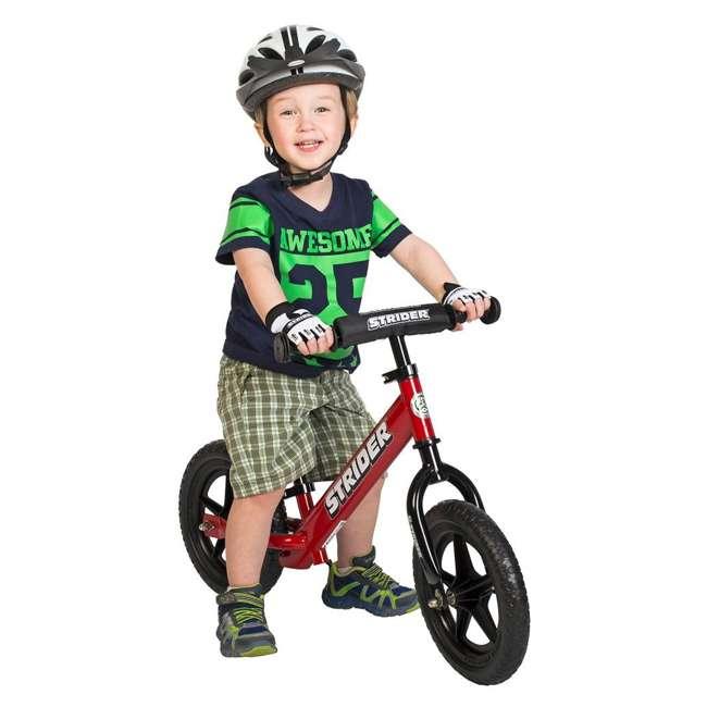 ST-S4RD + PSKISET-12-BK Strider 12 Sport Balance Kids Learning Bike, Red + Strider 12 Inch Bike Snow Ski Set  2