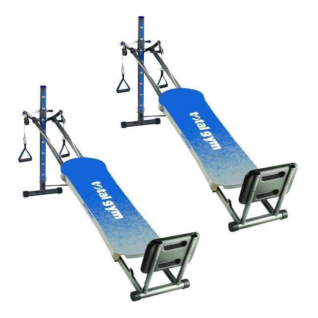 ROPTIMACAT Total Gym Full Body Workout Home Fitness Folding Exercise Row Machine (2 Pack)