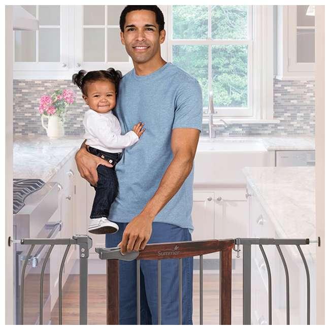 "27500A Summer Infant Anywhere Decorative Walk Thru Adjustable 42.5"" Baby Safety Gate 6"