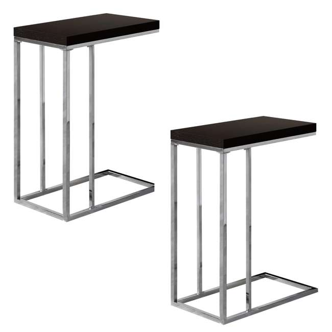 VM-3007 Monarch Specialties Contemporary Accent Side End Table, Cappuccino (2 Pack)