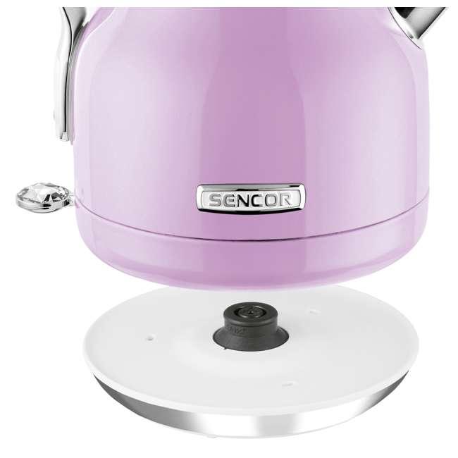 SWK45VT-NAB1 Sencor SWK45VT 1.2L Crystal Electric Kettle & Hot Water Tea Pot, Light Purple 4