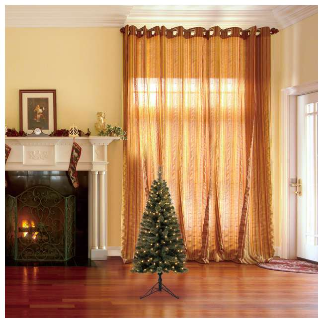 TV50M3AVBL00 Home Heritage Cashmere 5 Foot Artificial Corner Christmas Tree with LED Lights 3