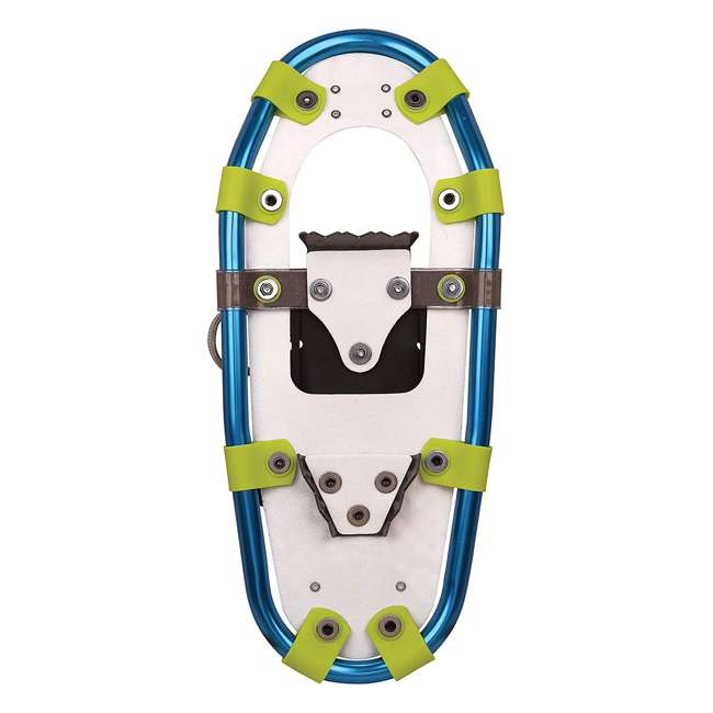 80-7006 Yukon Charlie's Sno Bash Youth Kids Winter Hiking Aluminum Snowshoes, Green 2