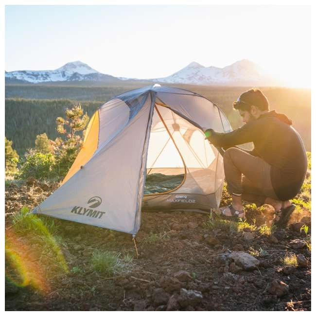 09M2OR01B Klymit 09M2OR01B Maxfield 2 Person 3 Season Lightweight Backpacking Camping Tent 9