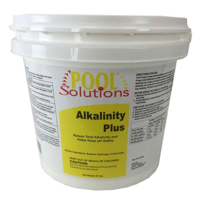 Pool Solutions Swimming Pool Total Alkalinity Plus Increaser 25lb P36025de Alk 7 28 5225b