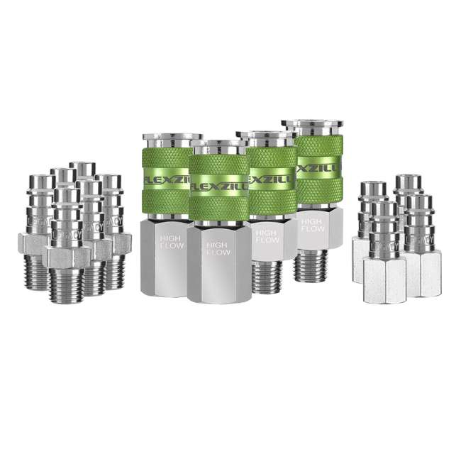 LEG-A53458FZ Flexzilla 14-Piece Pro High Flow Coupler and Plug Kit (2 Pack) 1
