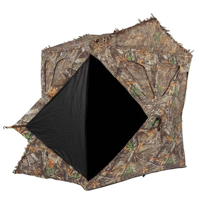 AMEBF3015 Ameristep Distorter Kick Out 3 Person Ground Hunting Concealment Blind, Mossy Oak 2