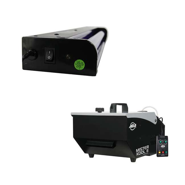 MISTER-KOOL-II ADJ Mister Kool II Fog Machine & 24 Inch 20 Watt Black Light Tube w/ Fixture