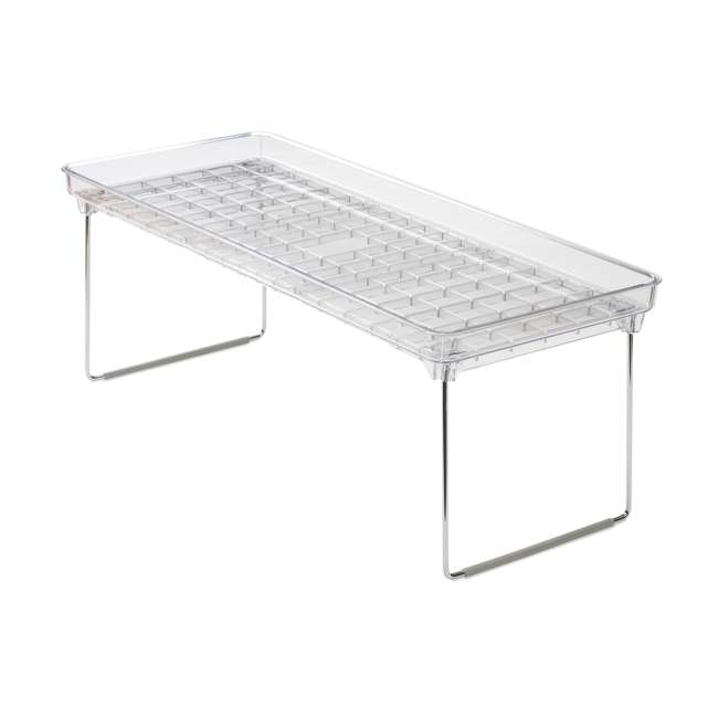 3 x 29081 Madesmart Large Clear Stacking Cabinet Storage Shelf (3 Pack) 1