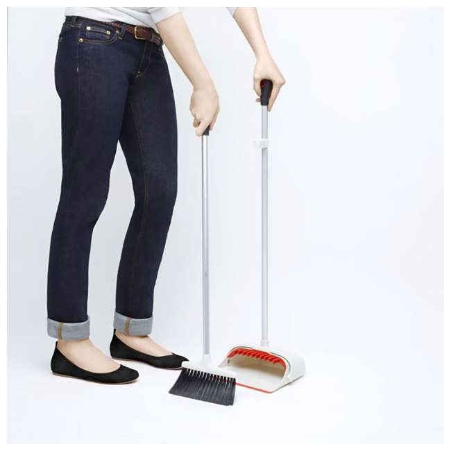 1335280 Oxo Good Grips Large Full Size Long Handled Upright Broom and Dustpan Sweep Set 3
