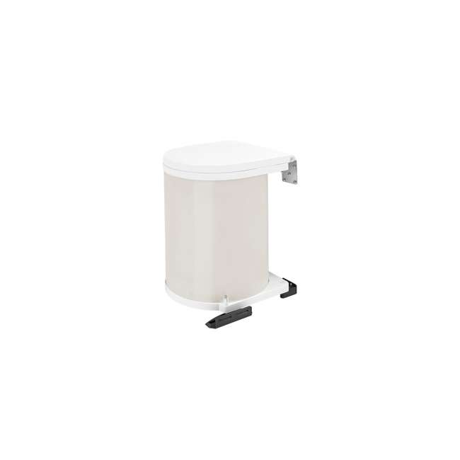 8-010212-14 Rev-A-Shelf 8-010212-14 14 Liter Steel Under Sink Kitchen Waste Container, White