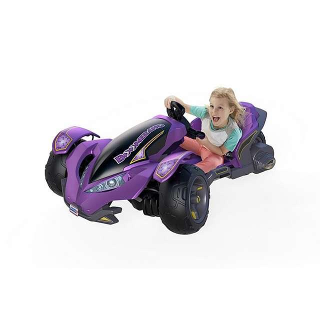 FLC34  Power Wheels Kids Electric Mini ATV Boomerang Ride-On , Purple 5