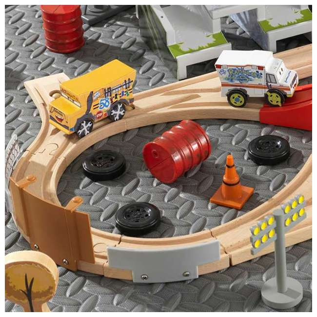 KDK-17212 Kidkraft Disney Pixar Cars 3 50 Piece Thunder Hollow Set  2