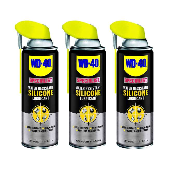 3 x WD-300012 WD-40 Specialist Water Resistant Silicone Lubricant (3 Pack)