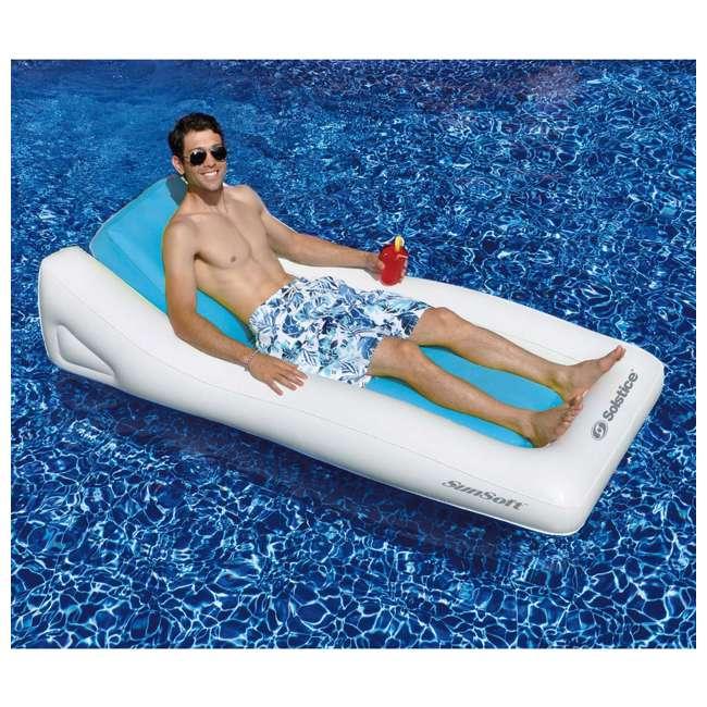 15090B Swimline Inflatable SunSoft Hybrid Lounge Ride-On Swimming Pool Float 3