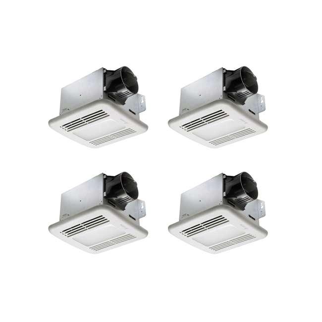4 x GBR80LED Delta Electronics BreezGreenBuilder 80 CFM Ventilation Fan, LED Light (4 Pack)