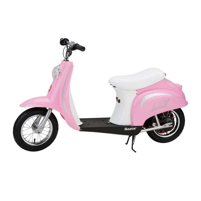 15130610 + 97783 Razor Pocket Mod Bella Electric Scooter & Youth Helmet (Pink) 3