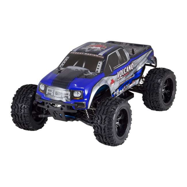 VOLCANOEPPRO-94111PRO-BS-U-C Redcat Racing Volcano EPX Pro 1:10 Scale RC Monster Truck, Blue (For Parts) 2