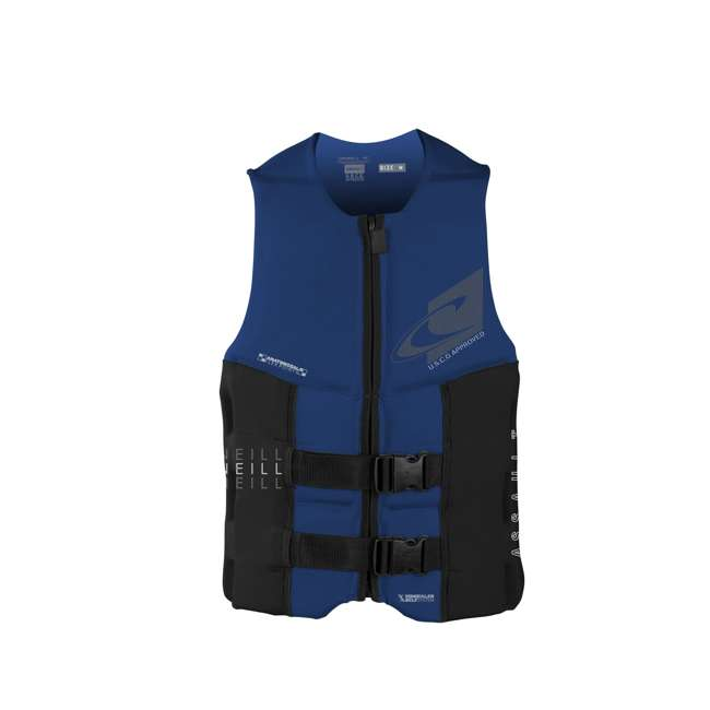 4498-B56-M O'Neill Assault 37 to 39 Inch Medium Water Ski Wakeboard Life Jacket Vest, Blue