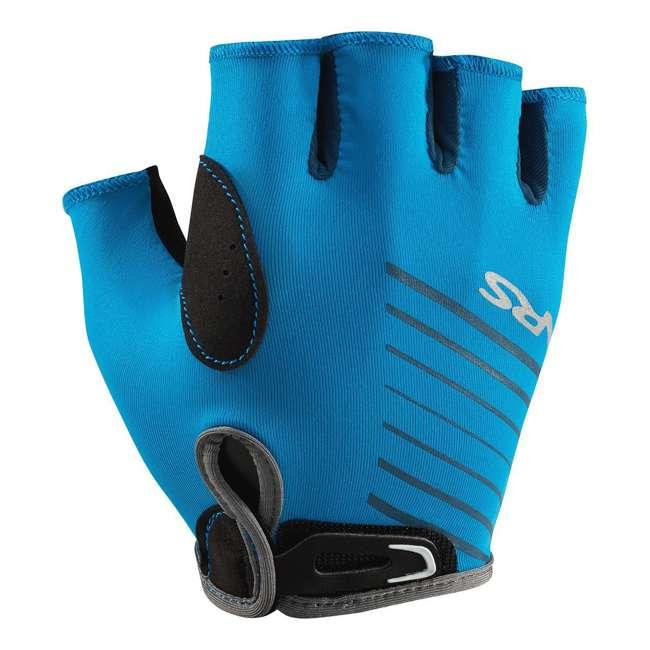 NRS_25005_05_100 NRS Men's Half-Finger Marine Blue Paddling & Rowing Boater's Gloves, XS (2 Pack) 1