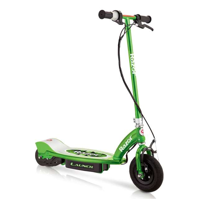 13111230 + 13111263 Razor E100 24 Volt Electric Powered Ride On Scooter, Green & Pink (2 Scooters) 1