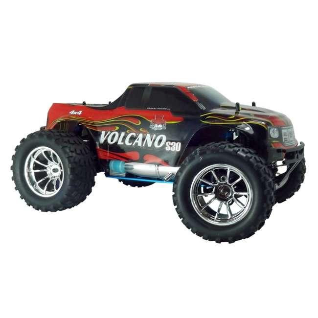4 x VOLCANOS30-REDPU-88049-R Redcat Racing Volcano S30 Nitro RC Monster Truck (4 Pack) 5