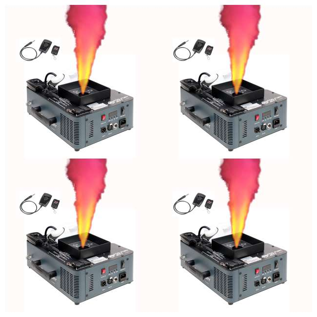 4 x FOG-FURY-JETT American DJ Fog Fury Jett Smoke Machine & LED Lights with Wireless Remote (4 Pack)