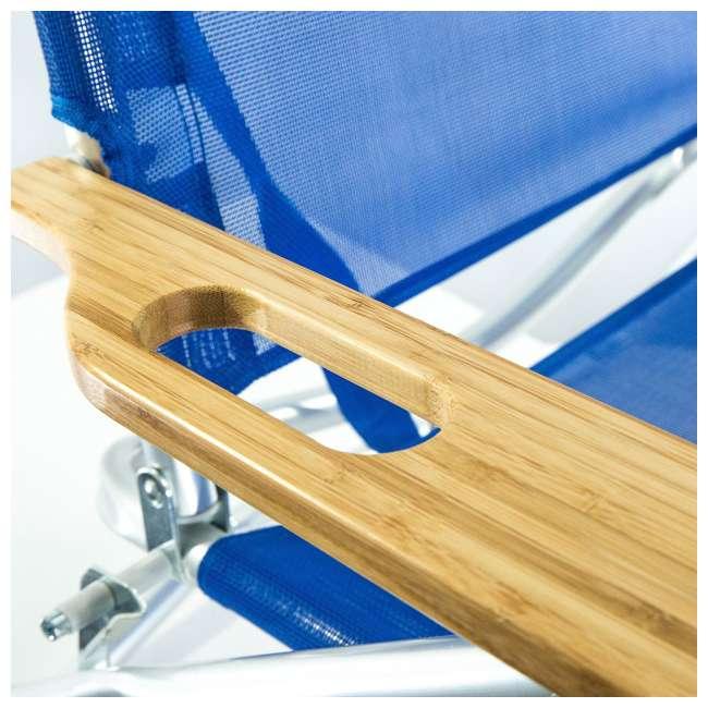 3N1-1001B-U-B Ostrich 3 N 1 Aluminum Frame 5 Position Reclining Beach Chair, Blue (Used) 3
