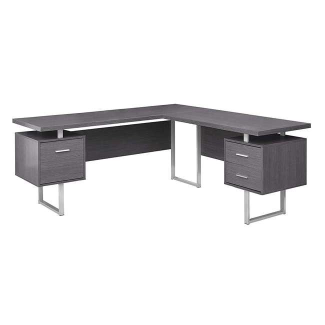 VM-7306 Monarch Specialties 70-Inch Computer Desk, Gray