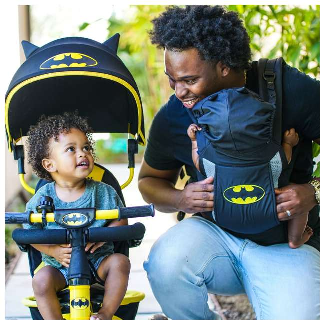 KE-7501BAT Kids Embrace 4 in 1 Push & Pedal Convertible 3 Wheel Batman Trike & Stroller 4