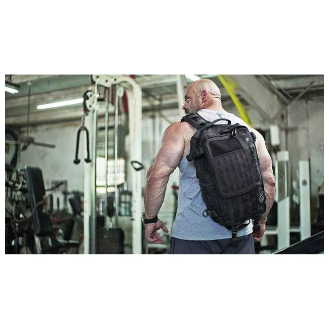 BKP-SWTC-BLK Hazard 4 Tactical Gear Sidewinder Full Sized Laptop Sling Pack Backpack, Black 4