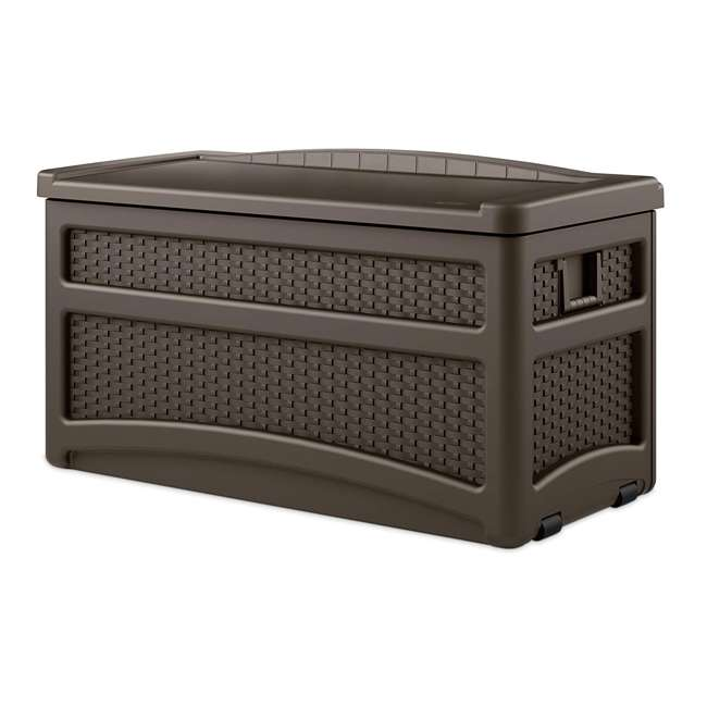 DBW7500-U-A Suncast Outdoor Patio Storage Chest with Handles and Seat (Open Box) (2 Pack) 2