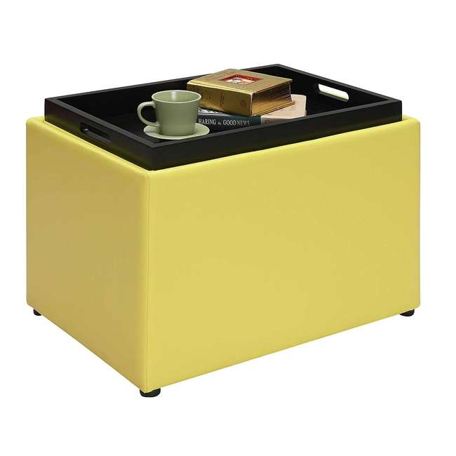 R8-160 Convenience Concepts R8-160 Designs4Comfort Accent Storage Space Ottoman, Yellow 1