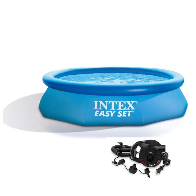 Intex 10 39 x 30 inch easy set above ground swimming pool - Inflatable quick set swimming pool ...
