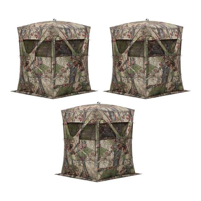 3 x BARR-BM11BW-RB Barronett Blinds Big Mike 2.0 Backwoods Blind, 3 Pack (Certified Refurbished)