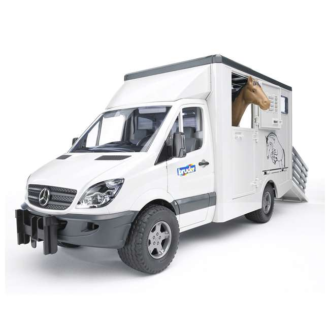 4 x 02533-BR Bruder Toys Mercedes Benz Sprinter Animal Transporter (4 Pack) 1