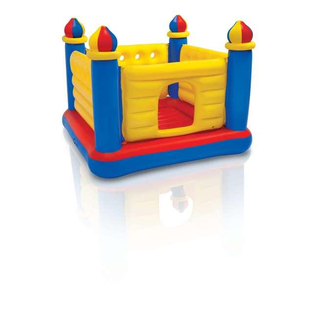 48259EP-U-A INTEX Inflatable Jump-O-Lene Ball Pit Castle Bouncer (Open Box) (2 Pack) 2