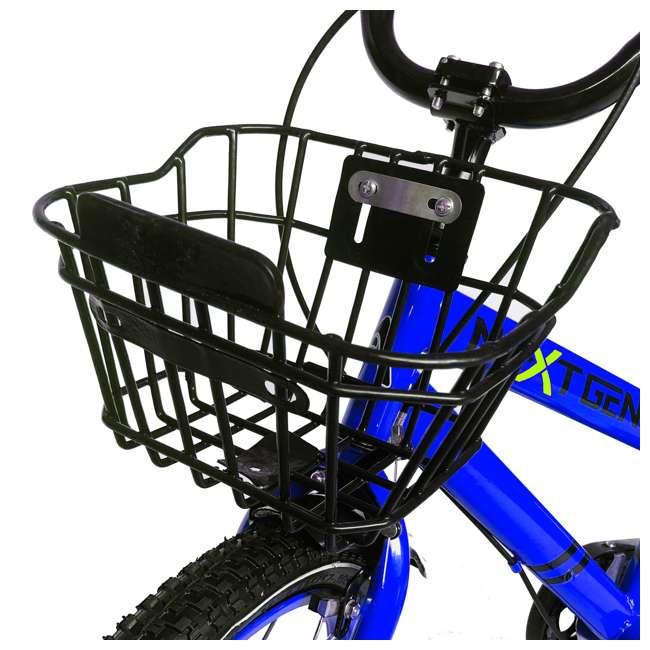 16BK-BLUE NextGen 16 Inch Childrens Kids Bike Bicycle with Training Wheels & Basket, Blue 2