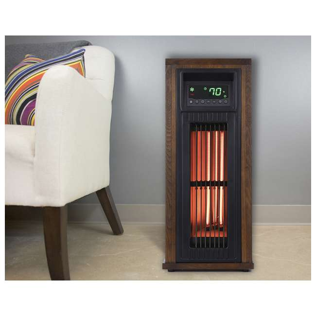 "HT1216 Lifesmart HT1216 23"" High 1500W Electric Large Room Infrared Tower Space Heater 1"