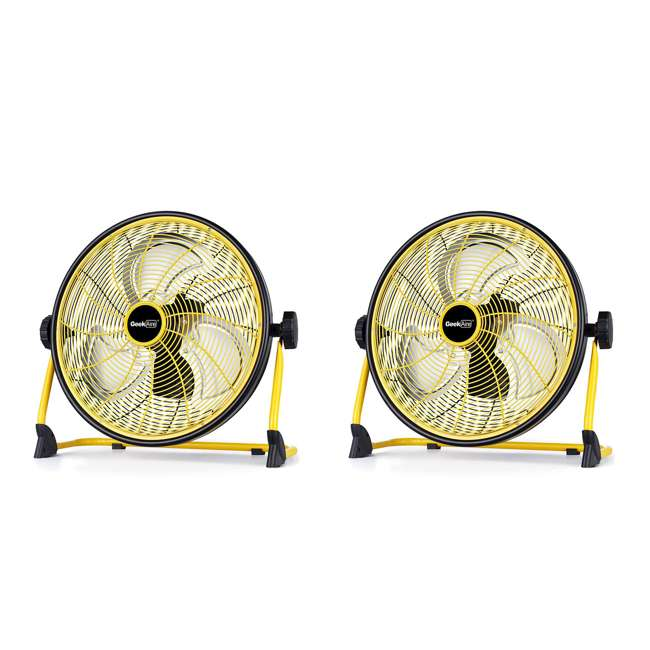 CF2 Geek Aire CF2 Outdoor Floor Fan 16 Inch Variable Speed Rechargeable (2 Pack)