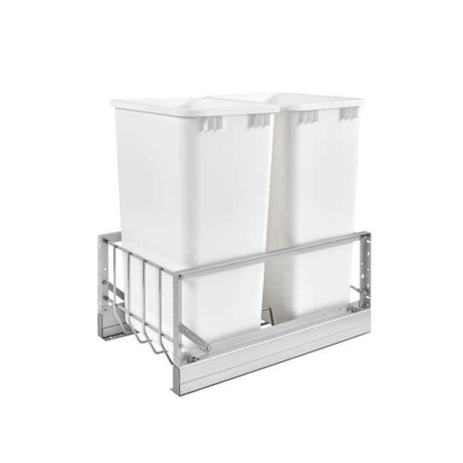 5349-2150DM-2 Rev-A-Shelf 5349-2150DM-2 Double 50 Quarts Undermount Pull-out Waste Container