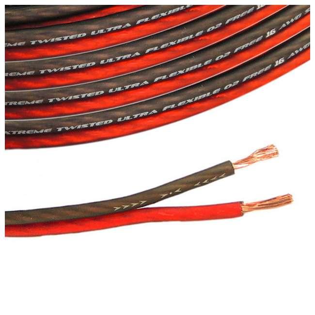 Hifonics HFX12D4 12-Inch 800W Subwoofer & Bullz Audio 16-Gauge 100-Foot Car  Speaker Cable