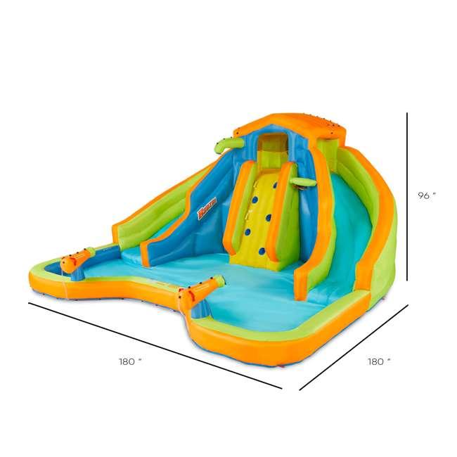 BAN-90369 Banzai 90369 Adventure Club Water Park Inflatable 2 Lane Water Slide Splash Pool 7
