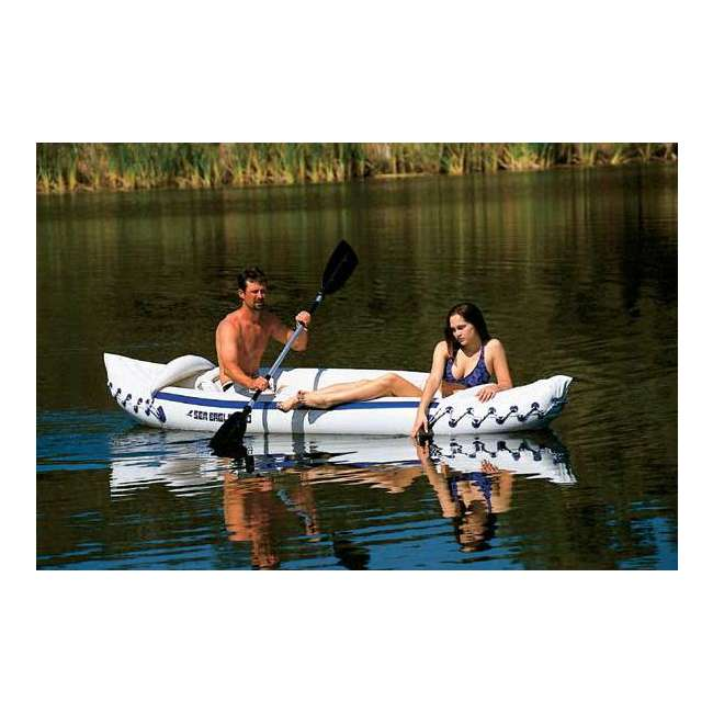 SE330K-DELUXE + 2 x NRS_40013_03_104 Sea Eagle Inflatable Kayak w/ Large Life Vest (2 Pack) 6