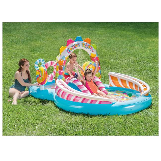 57149EP-U-A Intex Kids Candy Zone Play Center Splash Pool w/ Waterslide(Open Box) (2 Pack) 1