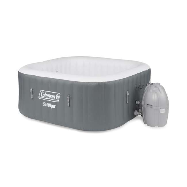 15442-BW + 28004E Coleman SaluSpa 4 Person Portable Inflatable Outdoor Hot Tub & Maintenance Kit 1