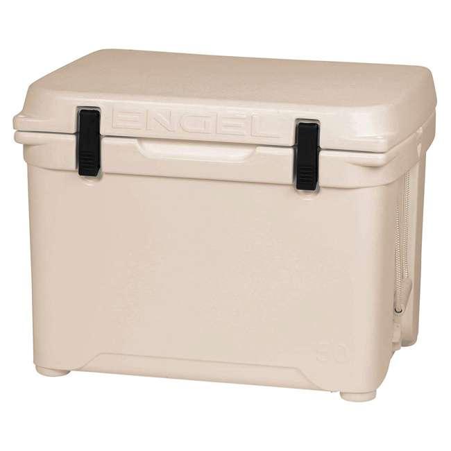 ENG50-CW Engel High-Performance Roto-Molded 50-Quart Portable Hard Drink Cooler, Coastal White
