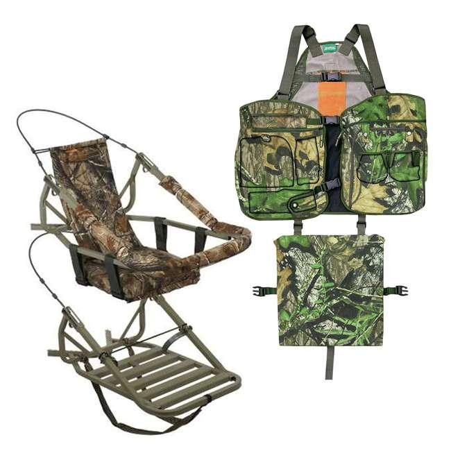81052-VIPCLASSIC + PRM-PS6566 Summit Viper Classic Treestand & Primos Mossy Oak Turkey XL/XXL Strap Vest